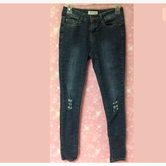 5c2c3d592457 mind code Jeans | 1 Distressed Knee Super Skinny | Poshmark